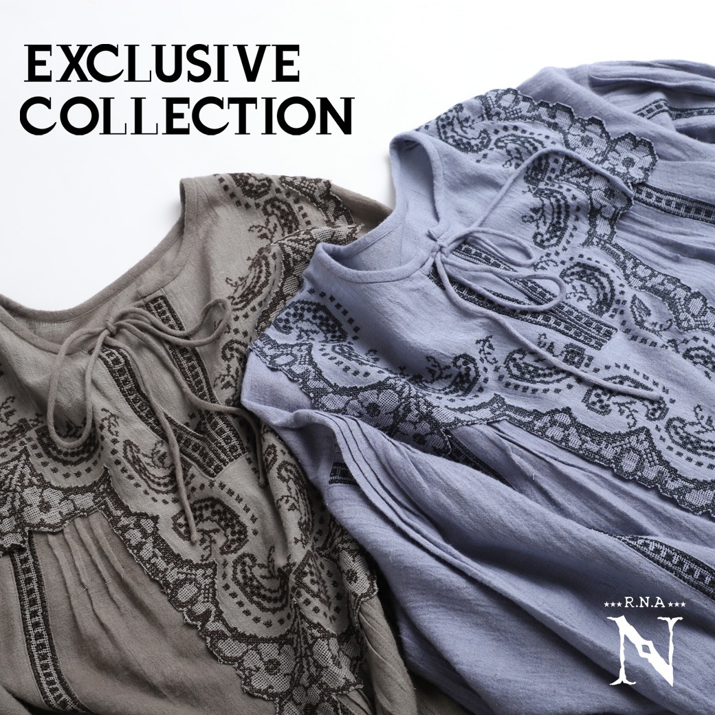 【RNA-N】「EXCLUSIVE COLLECTION」より刺繍シリーズが入荷しました。
