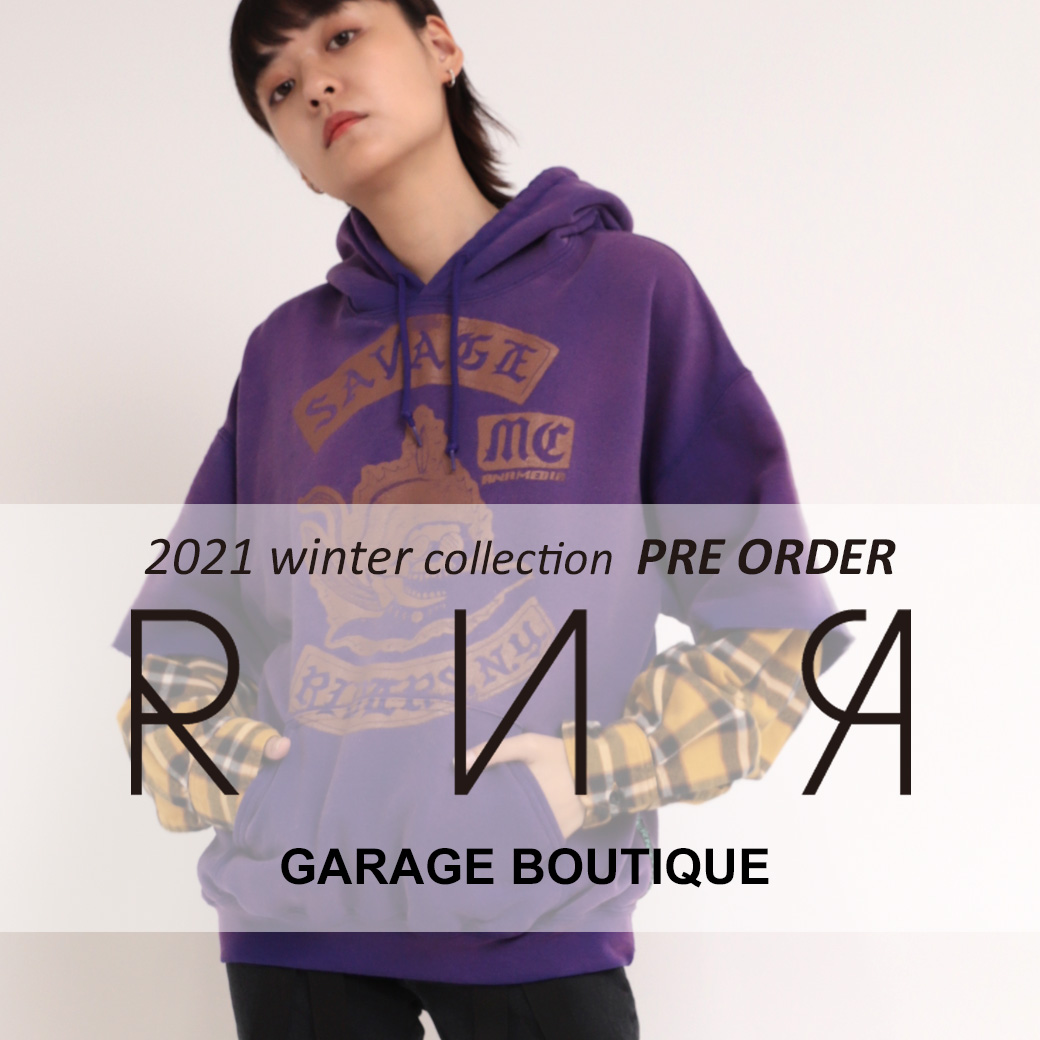 【RNA】2021 SPRING COLLECTION 新作予約アイテム追加しました。